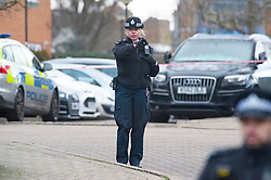 © Licensed to London News Pictures. 23/01/2019. West Norwood, UK.A fifteen year old boy has been shot in West Norwood and is believed to be in a critical condition in hospital, Police are at the scene and are standing guard at cordons.Photo credit: Grant Falvey/LNP