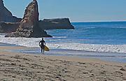 Skim Boarder at Davenport Beach California