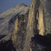 YOSEMITE NAT.PARK. Half Dome from Glacier Point.