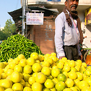 Produce stand at Udaipur street market