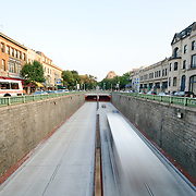 Road and tunnel in Dupont Circle, downtown Washington DC