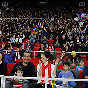 Anadolu Efes's supporters during their Turkish Airlines Euroleague Basketball Top 16 Round 3 match Anadolu Efes between CSKA Moscow at Abdi ipekci arena in Istanbul, Turkey, Thursday 15, 2015. Photo by Aykut AKICI/TURKPIX