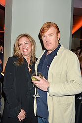 MARK DYER his wife AMANDA at the GQ Food & Drink Awards 2016 presented by Veuve Clicquot held at 100 Wardour Street, Soho, London on 26th April 2016.