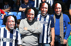 May 13, 2018 - London, England, United Kingdom - Fans wearing mask of West Bromwich Albion Caretaker manager Darren Moore .during the Premiership League match between Crystal Palace and West Bromwich Albion (WBA) at Selhurst Park, London, England on 13 May  2018. (Credit Image: © Kieran Galvin/NurPhoto via ZUMA Press)