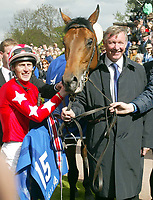 ROCKOF GIBRALTER, OWNED BY SIR ALEX FERGUSON, WINS THE 2000 GNS, AT NEWMARKET.RIDDEN BY JOHNNY MURTAGH