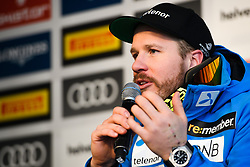 February 9, 2019 - Re, SWEDEN - 190209 Kjetil Jansrud of Norway at a press conference after the Men's downhill during the FIS Alpine World Ski Championships on February 9, 2019 in re  (Credit Image: © Daniel Stiller/Bildbyran via ZUMA Press)
