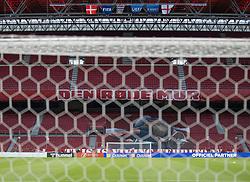 Et kig udover stadion uden tilskuere førUEFA Nations League kampen mellem Danmark og England den 8. september 2020 i Parken, København (Foto: Claus Birch).