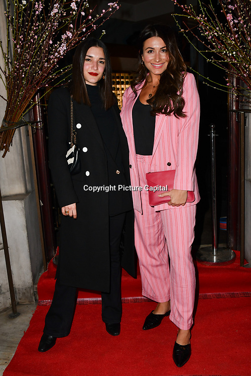 Anisa Sojka and  Gabriella Pisani attend Travel bag brand hosts the launch of its exclusive luxury collection of handbags in collaboration with model and designer Anastasiia Masiutkina  D'Ambrosio on 26 March 2019, Caviar House & Prunier 161 Piccadilly, London, UK.