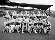 Neg No:.569/7823-7826...8081954AISHCSF1...08.08.1954, 8th August 1954...All Ireland Senior Hurling Championship - Semi-Final..Wexford.12-17..Antrim.2-3...Wexford. ..A. Foley, W. Rackard, N. ODonnell, M. OHanlon, J. English, R. Rackard, E. Wheeler, J. Morrissey, S. Hearne, Paddy Kehoe, T. Flood, Padge Kehoe (Captain), T. Ryan, N. Rackard, R. Donovan.Subs: T. Bolger for ODonnell; D. Aherne for Paddy Kehoe.Padge Kehoe (Captain). .