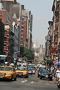 USA, NY, New york city, Manhattan, Yellow taxi cabs