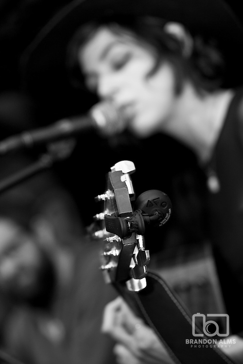 Vocalist Liz Carney singing with the Bella Donna Band.