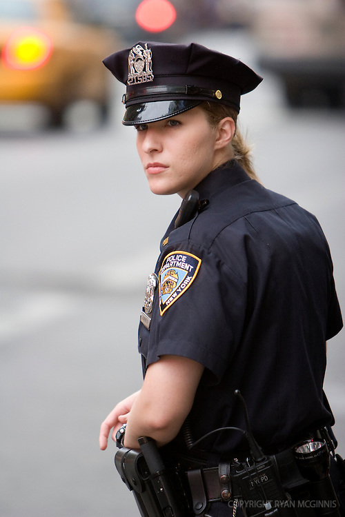 Candid of a police officer in Times Square, June 4, 2008.