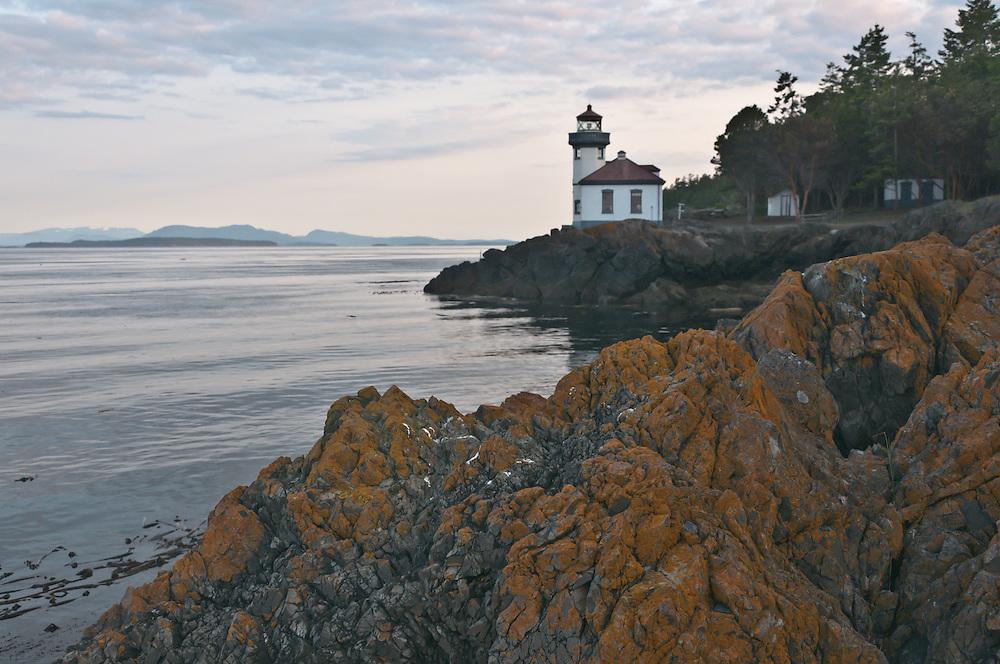 Lime Kiln park and lighthouse on San Juan Island, Washington.  Photo by William Byrne Drumm.