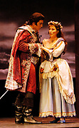 Gaston De Cardenas/El Nuevo Herald -- Ned Barth as Don Juan and Robin Crouse as Zerlina in a scene from act I of Don Giovanni by Wolfgan Amadus Mozart and performed by the Florida Grand Opera.