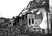 The ruins of Vukovar, a city on the Danube River destroyed by a Serbian siege during the war in 1991/1992. More than 300 Croatian civilians and soldiers were executed when the Serbs took the city.