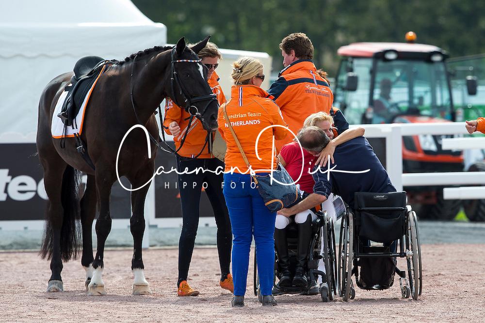 Nicole den Dulk, (NED), Wallace - Freestyle Grade Ib Para Dressage - Alltech FEI World Equestrian Games™ 2014 - Normandy, France.<br /> © Hippo Foto Team - Leanjo de Koster<br /> 25/06/14