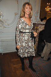 SABRINA GUINNESS at a party to celebrate the publication of 101 World Heroes by Simon Sebag-Montefiore at The Savile Club, 69 Brook Street, London W1 on 9th October 2007.<br />