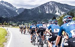 11.07.2019, Kitzbühel, AUT, Ö-Tour, Österreich Radrundfahrt, 5. Etappe, von Bruck an der Glocknerstraße nach Kitzbühel (161,9 km), im Bild Team Gazprom Rusvelo, Peloton bei Anstieg // Team Gazprom Rusvelo, Peloton bei Anstieg during 5th stage from Bruck an der Glocknerstraße to Kitzbühel (161,9 km) of the 2019 Tour of Austria. Kitzbühel, Austria on 2019/07/11. EXPA Pictures © 2019, PhotoCredit: EXPA/ JFK