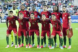 June 20, 2017 - Gdynia, Poland - The Portugal team before their UEFA European Under-21 Championship match against Spain on June 20, 2017 in Gdynia, Poland. (Credit Image: © Andrew Surma/NurPhoto via ZUMA Press)