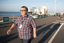 © Licensed to London News Pictures . 24/09/2017. Brighton, UK. Labour Deputy Leader walking along the seafront outside the venue . The first day of the Labour Party Conference in and around The Brighton Centre . Photo credit: Joel Goodman/LNP