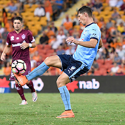 BRISBANE, AUSTRALIA - FEBRUARY 3: Filip Holosko of Sydney controls the ball during the round 18 Hyundai A-League match between the Brisbane Roar and Sydney FC at Suncorp Stadium on February 3, 2017 in Brisbane, Australia. (Photo by Patrick Kearney/Brisbane Roar)