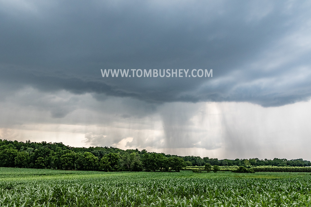 Storm clouds over a farm field in the Town of Wawayanda, N.Y.,  on July 16, 2021.