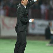 Besiktas's coach Carlos CARVALHAL during their Turkish superleague soccer match Gaziantepspor between Besiktas at the Kamil Ocak stadium in Gaziantep Turkey on Monday 03 October 2011. Photo by TURKPIX