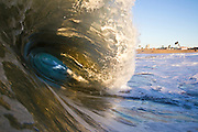 Waves Crashing at the Wedge in Newport Beach