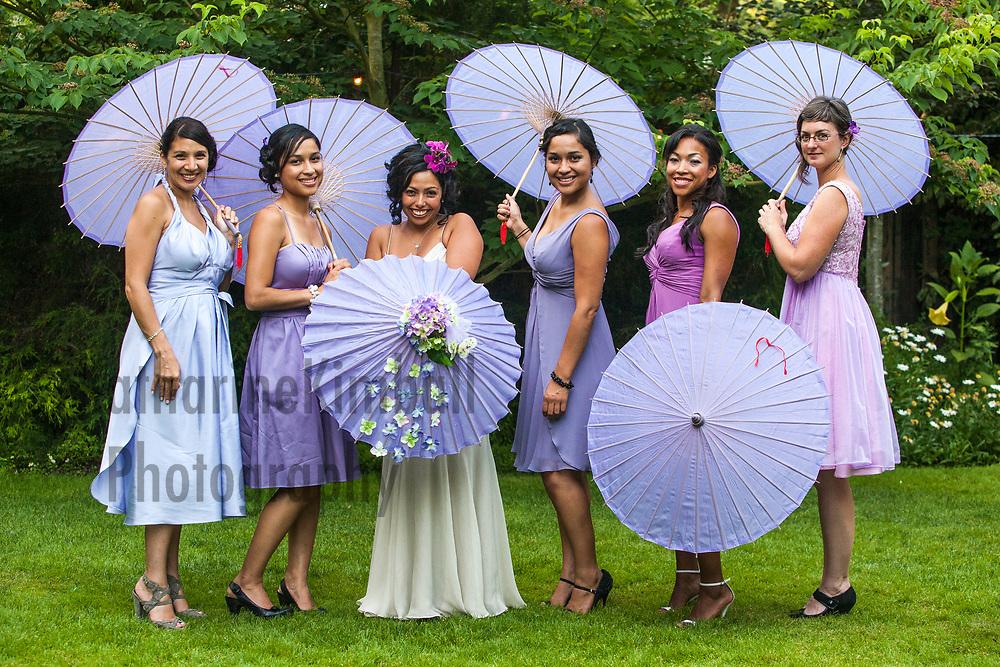 Bride and bridesmaids at McMenamins Cornelius Pass Roadhouse.