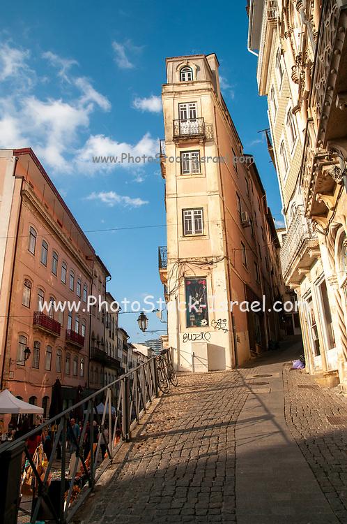 Pedestrian street of Rua Visconde da Luz in Coimbra, Portugal