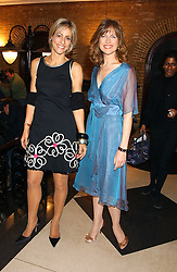 Left to right, news readers EMILY MAITLIS and  KATIE DERHAM at the 2005 Whitbread Book Awards 2005 held at The Brewery, Chiswell Street, London EC1 on 24th January 2006. The winner of the 2005 Book of the Year was Hilary Spurling for her biography 'Matisse the Master'.<br /> <br /> NON EXCLUSIVE - WORLD RIGHTS