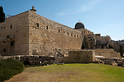Israel, Jerusalem, Old City, Al Aqsa Mosque on Temple Mount known as the Al Aqsa Compound or Haram esh-Sharif