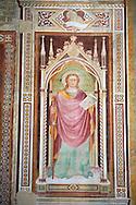 Mredieval Gothic frescoes in San Miniato al Monte (St. Minias on the Mountain) basilica , Florence, Italy.