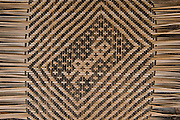 Macushi people & weaving split vine<br /> Yupukari village<br /> Savannah, Rupununi<br /> GUYANA<br /> South America