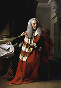 John Singleton Copley, William Murray, 1st Earl of Mansfield, SL, PC (2 March 1705 – 20 March 1793) was a British barrister, politician and judge noted for his reform of English law.  portrait in his robes as Lord Chief Justice 1756 – 4 June 1788