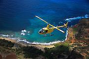 Helicopter flight, Kauai, Hawaii
