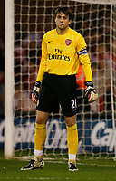 Photo: Steve Bond.<br /> Sheffield United v Arsenal. Carling Cup. 31/10/2007. Captain for the night Lukasz Fabianski
