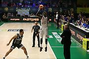 Sanders Rakim<br /> EA7 Olimpia Milano - Cantina Due Palme Brindisi<br /> Poste Mobile Final Eight F8 2017 <br /> Lega Basket 2016/2017<br /> Rimini, 16/02/2017<br /> Foto Ciamillo-Castoria/A. Gilardi