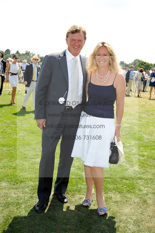 BROOK & SALLY JOHNSON at the Cartier International Polo at Guards Polo Club, Windsor Great Park on 27th July 2008.<br /> <br /> NON EXCLUSIVE - WORLD RIGHTS