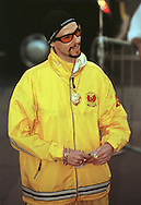 Skoda Fringe Gala at Our Dynamic Earth, Edinburgh: An Ali G lookalike arriving at the showcase event for acts appearing at the Edinburgh Festival Fringe. .