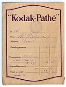 vintage Kodak film and prints envelope 1910s