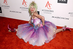 Designer Betsey Johnson attends the Accessories Council's 21st Annual celebration of the ACE awards at Cipriani 42nd Street in New York, NY, on August 7, 2017. (Photo by Anthony Behar) *** Please Use Credit from Credit Field ***