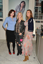 Left to right, JASMINE GUINNESS, LADY MARY CHARTERIS and YASMIN LE BON at the launch of the 'Jasmine for Jaeger' fashion collection by Jasmine Guinness for fashion label Jaeger held at Fenwick's, Bond Street, London on 9th September 2015.