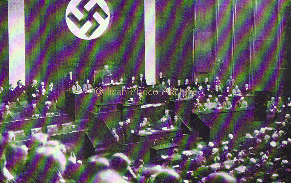 Reichstag debate which preceded the ratification of the 1933 Enabling Law in Germany