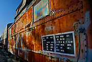 Rusted caboose at South Jersey Railroad Museum, Tuckahoe, New Jersey
