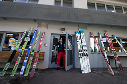 Skis during ski jumping training in Nordic Center Planica before Four Hills Tournament, on December 21, 2016 in Nordic, Center Planica, Planica, Slovenia. Photo by Matic Klansek Velej / Sportida