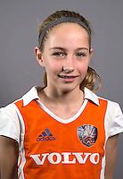 AMSTELVEEN - MILOE JAEGER, Nederlands Meisjes B hockey. Foto KOEN SUYK
