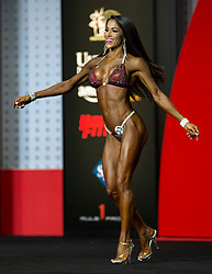 Sept.16, 2016 - Las Vegas, Nevada, U.S. -  JENNIFER RONZITTI competes in the Bikini Olympia contest during Joe Weider's Olympia Fitness and Performance Weekend.(Credit Image: © Brian Cahn via ZUMA Wire)