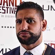 British Asain Boxer Amir Khan attend World Premiere of Team Khan - Raindance Film Festival 2018 at Vue Cinemas - Piccadilly, London, UK. 29 September 2018.