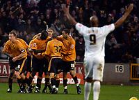 Photo: Ed Godden.<br />Wolverhampton Wanderers v Norwich City. Coca Cola Championship. 23/12/2006. Wolves' players celebrate Karl Henry's equaliser.